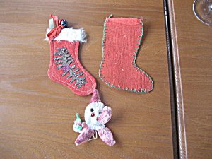 1952 Hand Made Christmas Stockings and Santa (Image1)