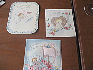 Three 1915 Baby Cards