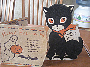 Two Vintage Halloween Cards (Image1)