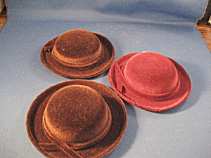 Three Small Doll Hats (Image1)