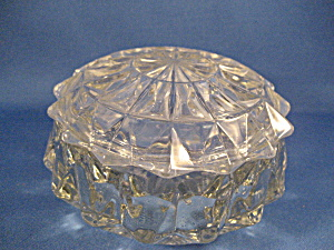 Crystal Candy Dish Or Vanity Jar