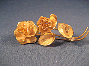 Gold Tone Flower Pin