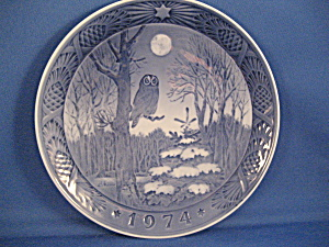 1974 Winter Twilight Royal Copenhagen Plate