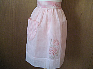 Rose Gingham Apron