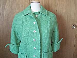 Green Betty Rose Spring Coat