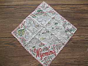 Wyoming Map Handkerchief