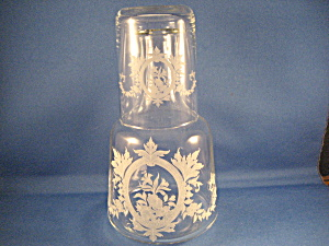 Etched Water Carafe And Etched Glass