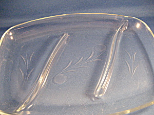 Etched Glass Serving Platter