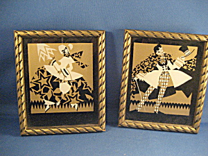 Two Gold And Black Victorian Prints