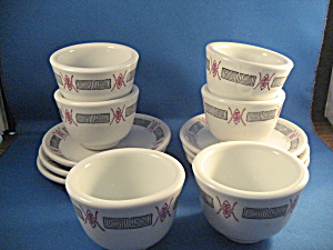 Six Restaurant Cup And Saucer