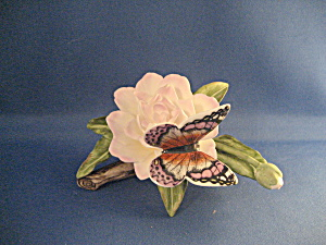 Enesco Porcelain Flower With Butterfly