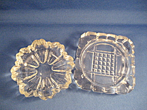 Two Glass Ash Trays
