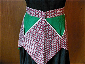 Red and Green Christmas Apron (Image1)