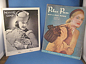 Two Vintage Hat And Purse Pattern Books