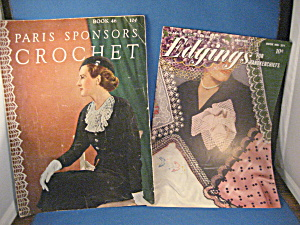 Vintage Crochet And Knitting Books
