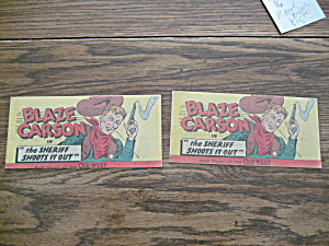Two Blaze Carson Promotion Comics