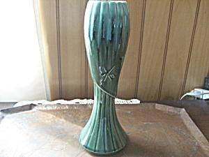 Green Brush Mccoy Vase