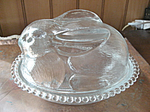 Clear Glass Bunny Candy Dish