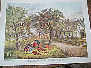 Currier & Ives American Homestead Autumn