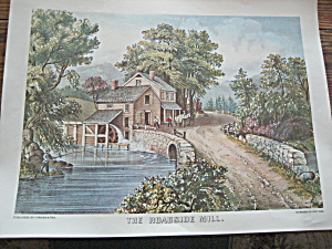 Currier & Ives The Roadside Mill