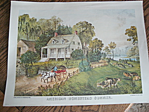Currier & Ives American Homestead Summer