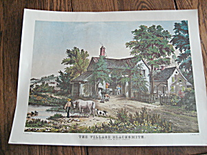 Currier & Ives The Village Blacksmith
