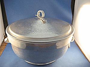 Large Aluminum Bowl With A 2 Part Fire King Bowl