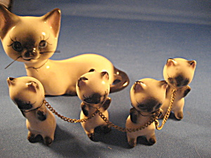 Norcrest Porcelain Kittens Figurines