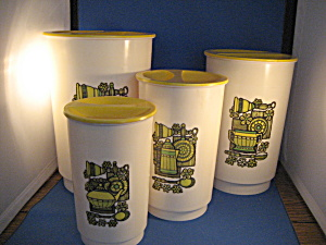 1960s Or 70s Kitchen Canisters