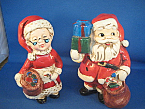Homco Santa Bank And Mrs Santa