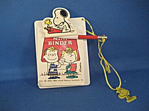 Snoopy Mini Binder With Pencil