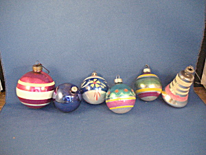 Combination Of Different Style Glass Ornaments