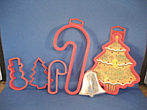 Five Different Sized Cookie Cutters
