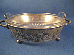 Silver Base Glass Dish