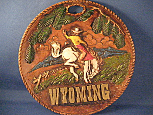 Wyoming Bucking Bronco Souvenir Plate