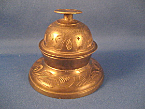 Brass Elephant Claw Bell With Stand