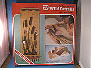 Vintage Wild Cattails Wall Hanging Kit