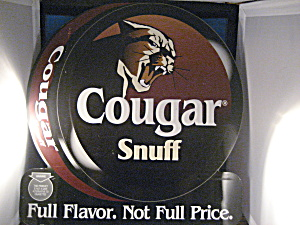 Tin Cougar Snuff Sign