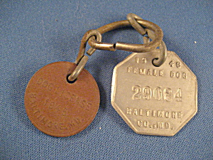 1946 Baltimore Co Md Dog Tags