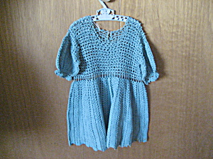 Green Crochet Child's Dress