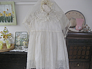 1940s Confirmation Dress And Veil