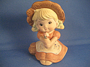 Little Girl With Flower Figurine