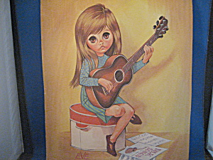 Keane Like Big Eye Picture Of Girl With Guitar