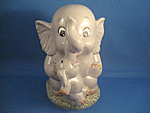 Enesco Mom And Baby Elephant Bank