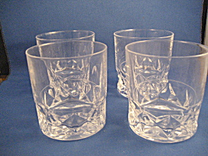 French Lead Crystal Old Fashion Glasses