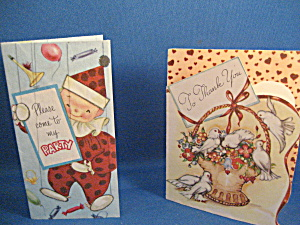 Vintage Thank You Card and Party Invitation (Image1)