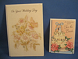 Vintage Cards With Wedding Theme