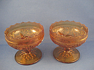 Amber Tiara Candle Holders