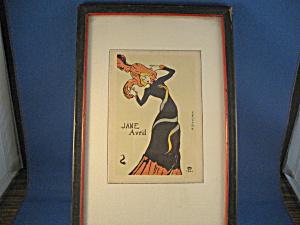 Toulouse Lautrec's Jane Avril Print (Image1)