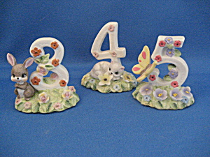 Three, Four, Five Birthday Figurines From George Good